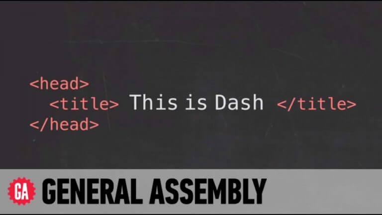 Tự học thiết kế website với Dash General assembly
