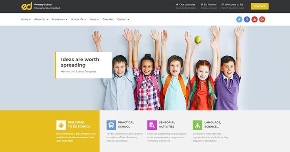 Giới thiệu về thiết kế website trường học