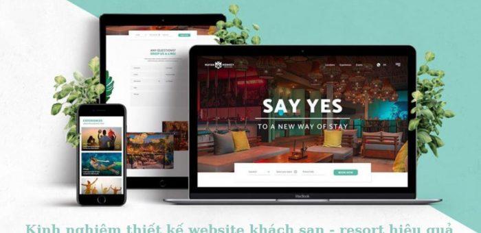 Kinh nghiệm thiết kế website khách sạn bạn cần để ý