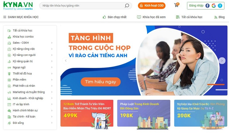 lập trình website học online