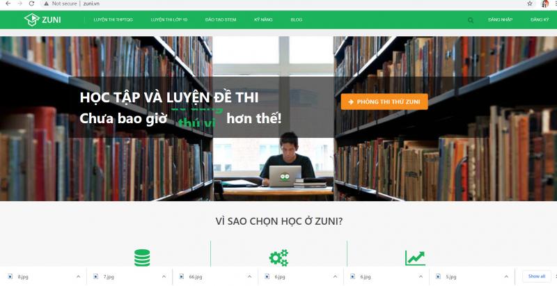 các trang học online