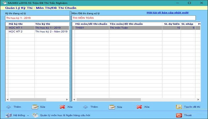 Phần mềm trộn đề thi trắc nghiệm online - McMix